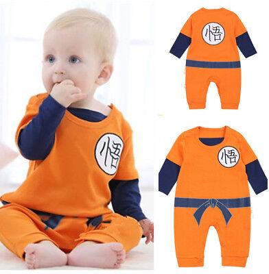 Dragonball Z DBZ Kostüm Son Goku Baby Toddler Bodysuit Onesie Halloween Cosplay (Son Goku Baby Kostüme)