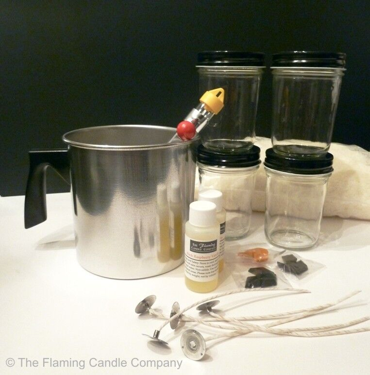 The Complete Soy Wax Container Candle Making Kit - Candle...