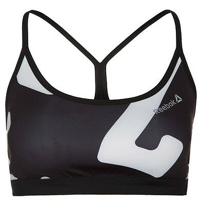 Reebok Aerobics Sports Bra Vest Top, Ladies Womens, Running Gym Training Fitness