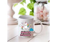 Fairytale Unicorn Mug/Mugs - Add Any Name of Your Choice