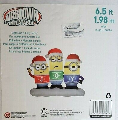 Gemmy 6.5ft Minion Joy Collection Scene Christmas Inflatable