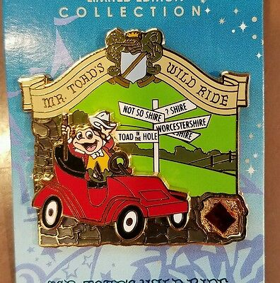 DISNEY PIN LE MR TOAD'S WID RIDE WDW PIECE OF HISTORY