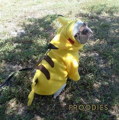 French Bulldog Boston Terrier Pug Froodies Hoodies Costume Pokemon Go Pikachu
