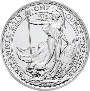 Silver coin, BRITANNIA 2013. 1 ounce 99.9% silver TESTED!!!
