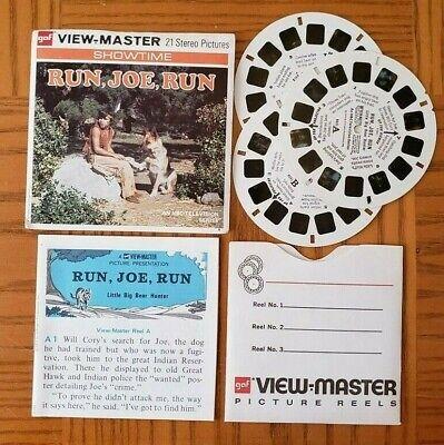 B594 Run Joe Run Little Big Bear Hunter NBC TV Show view-master Reels (Little Joe Tv)
