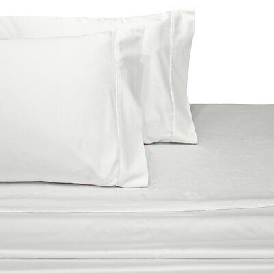 California King Bed Sheet Set- Wrinkle-Resistant 100% Cotton Solid 300TC Sheets