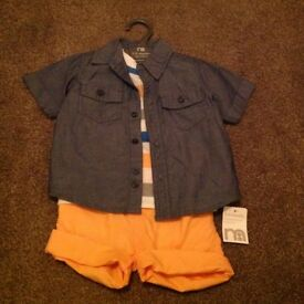 Boys outfit, age 9-12 months, never worn