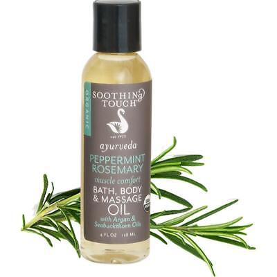 - Soothing Touch Bath Organic Body & Massage Oil, Peppermint Rosemary, 4 Ounce
