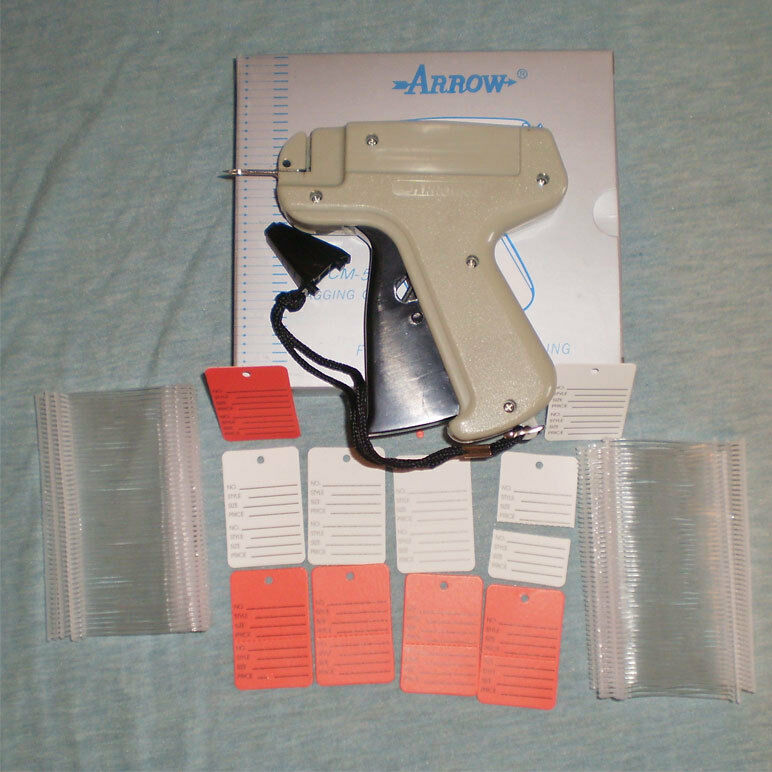 CLOTHING PRICE LABEL TAGGING TAGGER GUN dennison style +500 BARB+50 PRICE LABELS