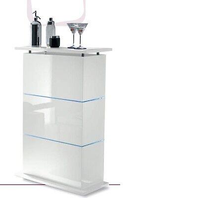 Mobile bar contenitore moderno Primo bianco laccato lucido sala soggiorno