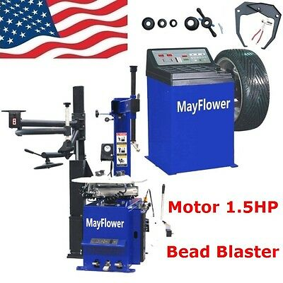 1.5 HP Automatic Tire Changer Wheel Changers Machine Rim Balancer Combo 960 -