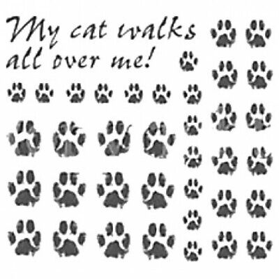 Lot Of 11 Sheets My Cat Walks All Over Me Paws New Heat Press Transfers Sale
