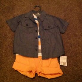 Boys summer outfit, age 9-12 months