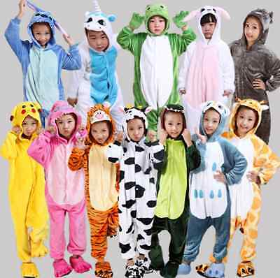 Kids Boy Girl Pajamas Kigurumi Unisex Cosplay Animal Costume Jumpsuit - Girl Animal Costumes