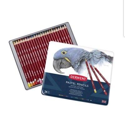 Derwent Professional Pastel Pencils 24 Tin Set of Assorted Colours