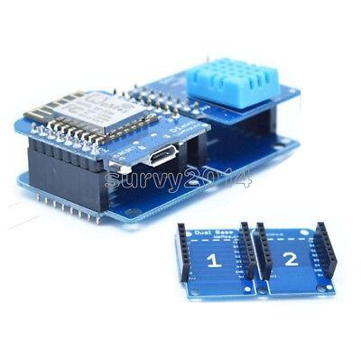 Double Socket Dual Base Shield For Wemos D1 Mini Nodemcu Arduino Esp8266