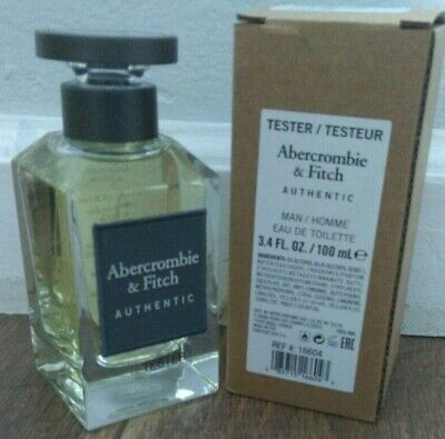 ABERCROMBIE & FITCH AUTHENTIC EDT 3.4 OZ *MEN COLOGNE* NEW PERFUME IN TESTR BOX