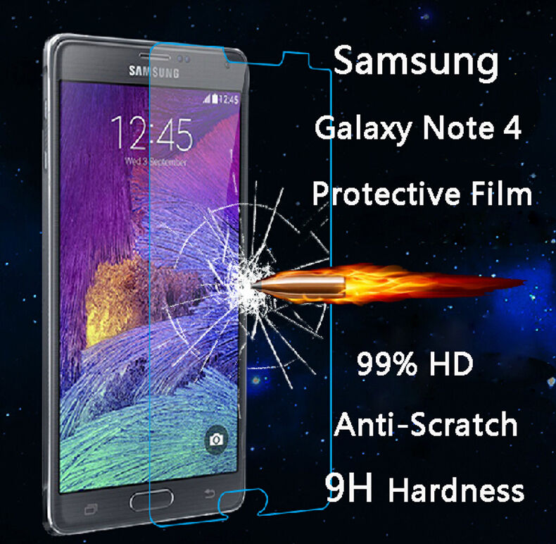 For Samsung Galaxy Note 4 .40mm Tempered Shatterproof Glass Screen Protector
