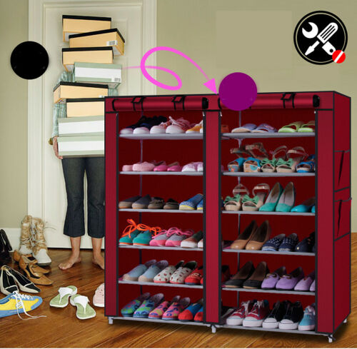 36 Pair Wall Bench Storage Home Shoe Rack for Box Stand Shel