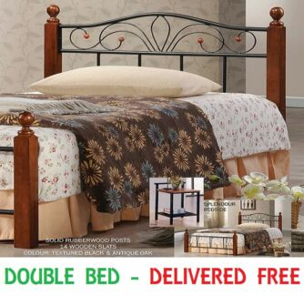 Brand New DOUBLE Size Timber and Iron Bed Frame - DELIVERED FREE New Farm Brisbane North East Preview