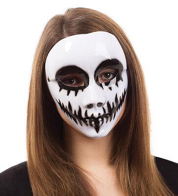 Erwachsene Weiß Totenkopf Maske Ghost Halbschuhe Gesicht Gruselig Halloween (Halloween Ghost Gesichter)