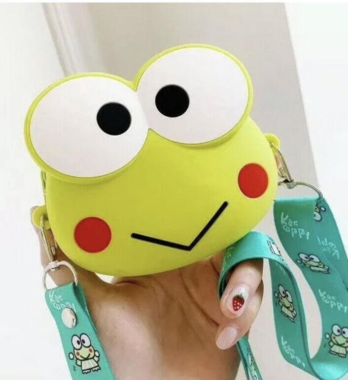 Keroppi Frog Coin Bag Purse Bag with Neck Strap