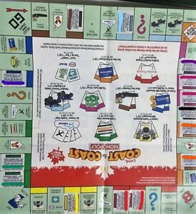 Selling: McDonalds Monopoly pieces - Entire Game board