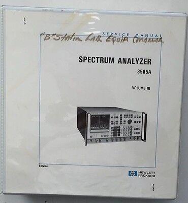 Hp 3585a Spectrum Analyzer Service Manual Volume 3 Pn 03585-90006