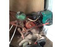 Garden Rotivator with Briggs & Stratton engine in good working order
