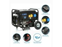 8.1 kVA Petrol Generator w. Electric Start, Wheel Kit, Oil & Flyleads