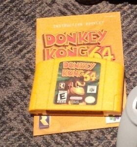 Donkey Kong 64 with manual