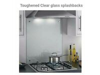 Brand new Splashback- clear toughened glass