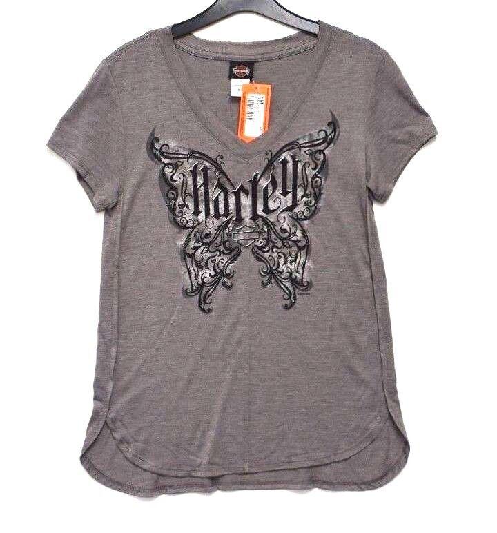Genuine Harley Davidson Ladies Women/'s Marbleized Robin Hood Nottingham T-Shirt