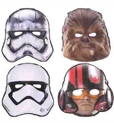 Star Wars The Force Awakens Masks 8 pack Halloween Party Supplies Costume  - Disney Halloween Party Decorations