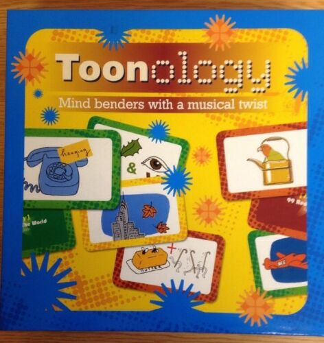 TOONOLOGY+Musical+Mind+Benders+Board+Game+NEW%2FSEALED+FREE+P+%26+P