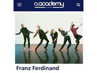 Franz Ferdinand x2/x4 standing tickets @ 02 Academy Glasgow