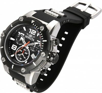 New Mens Invicta 19526 50mm Speedway Chronograph Silicone Strap Watch