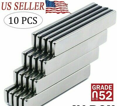 10pcs N52 Strong Neodymium Magnets Rare Earth Lifting Magnets 40x7x3mm