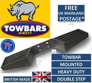 Towbar-Mounted-Step-Heavy-Duty-Tow-Bar-Towstep-Double-Sided-4-Bolt-fixing
