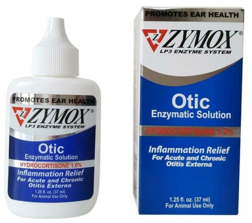 1.25 oz Zymox Otic Enzymatic Solution w/1% Hydrocortisone for Dog and Cats