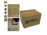 10 Strong Large Cardboard Moving Boxes Dbl Walled with Handles 24'' x 18'' x 16'' + bubble wrap