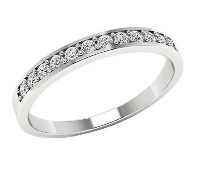 Natural Diamond Wedding Anniversary Ring Band 14K Gold Round Cut 0.25 Ct