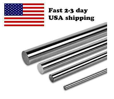 Pdtech 20mm Dia Hardened Steel Linear Bearing Rod Rail Chrome Custom Cut Usa