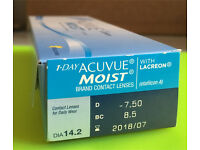 33 one day acuvue moist contact lenses D -7.50 BC 8.5 DIA 14.2 Paypal accept