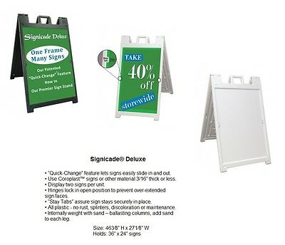 Signicade Deluxe Sign Frame Portable Sign Holder For Vinyl Graphic Prints