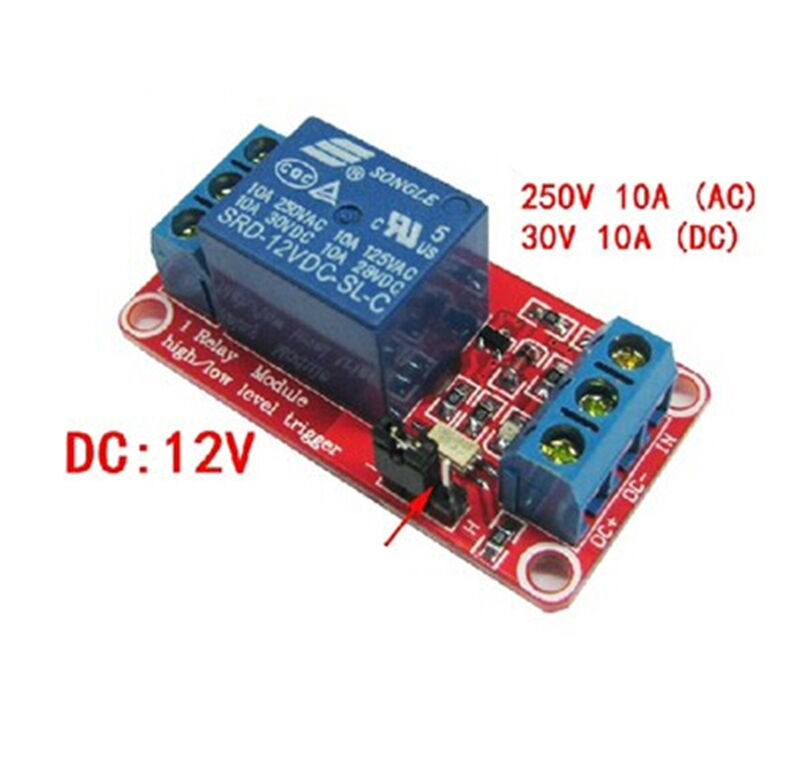 Reliable 12V 1 channel relay module optocoupler High and low level trigger J HB