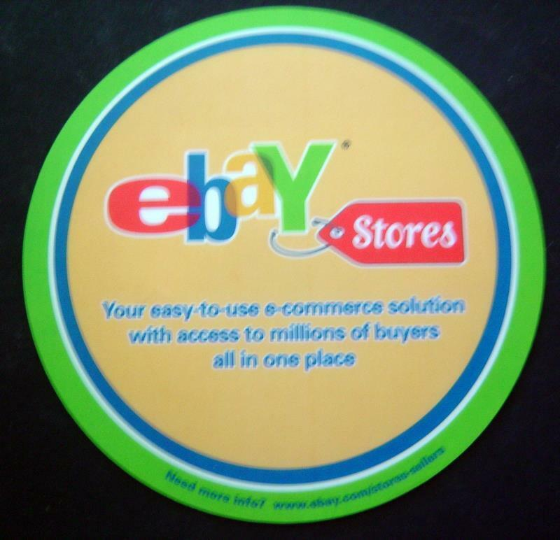 "EBAY Stores MOUSE PAD Advertising Promo From EBAY Live 2003 or 2004 8"" Diameter"