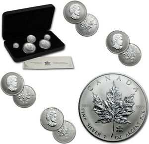Silver Maple Leaf Coin Set