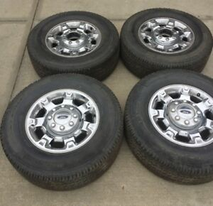 Ford F250 / F350 Rims and Used Michelin LTX Tires - 275 70 R18