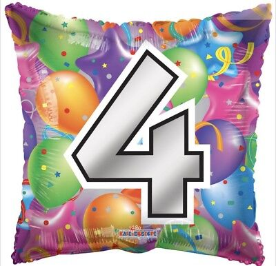 Number 4 Balloon (Number 4 4th Birthday 18